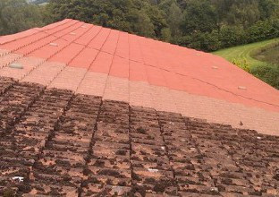 Roof cleaning.