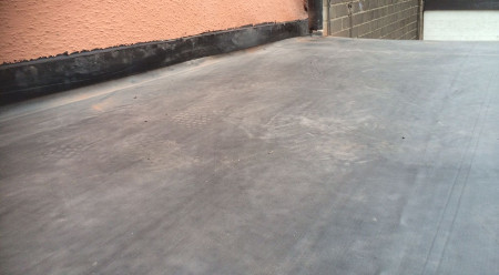 EPDM rubber on flat roof - W Contractors.