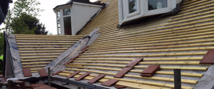 New roof with battening.